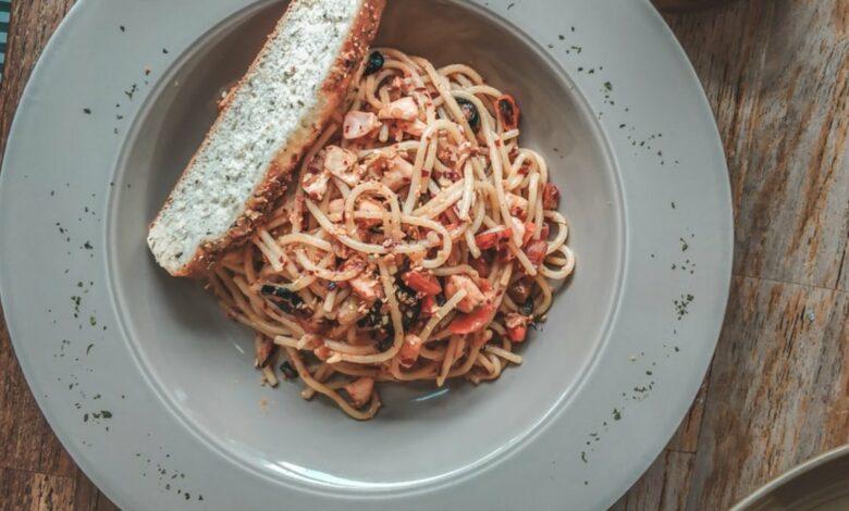 Receta de espaguetis konjac a la Provenza 1