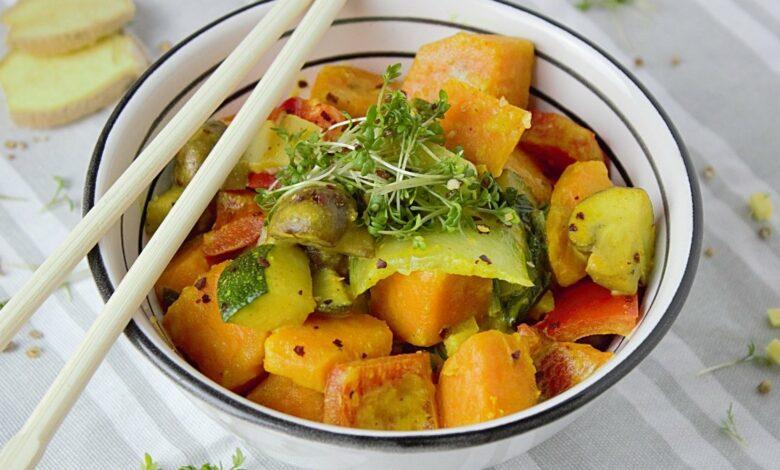 Receta de hortalizas al curry 1