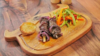 Photo of Receta de pinchos de cordero con cebolla fáciles de preparar