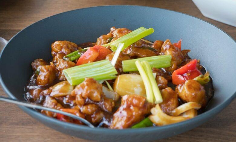 Receta de pollo al curry con salsa de leche 1