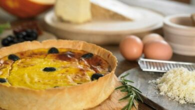 Photo of Receta de quiche de calabaza y queso suizo