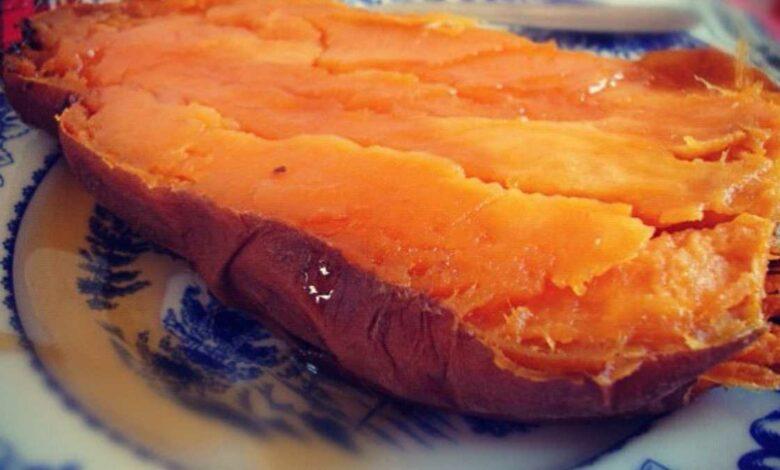 Receta de batata glaseada con naranja y miel 1