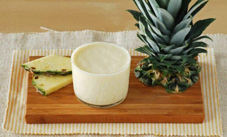 Receta de Batido de piña con leche de avena 1