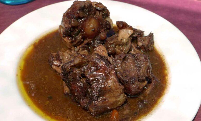 Receta de Buey guisado con salsa de albahaca 1