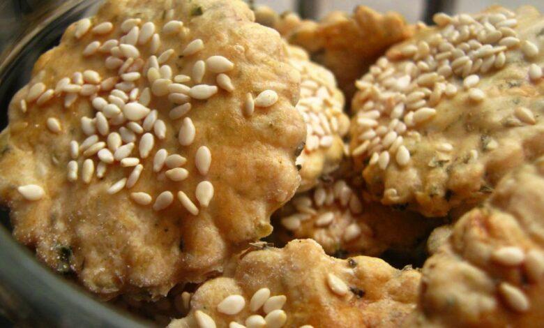 Crackers con sésamo sin gluten