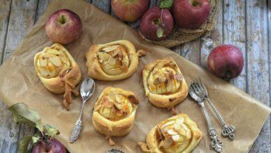 Photo of Receta de manzana hojaldrada rellena de frutos secos