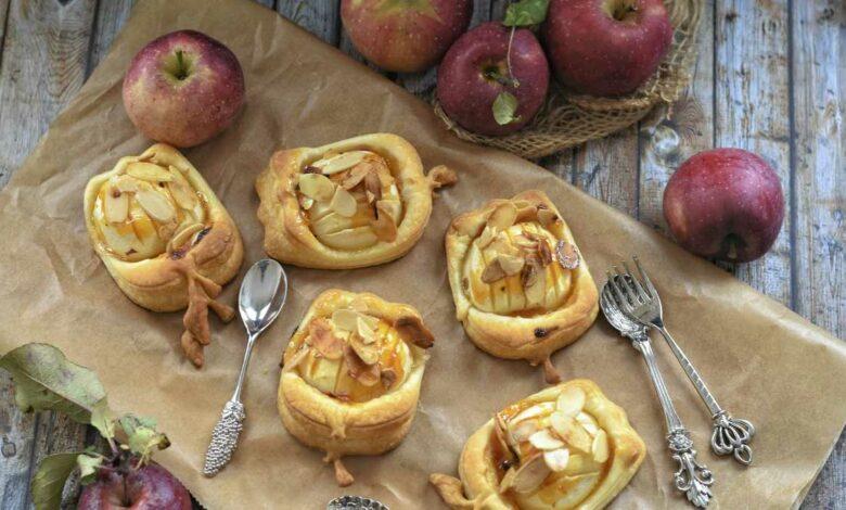 Receta de manzana hojaldrada rellena de frutos secos 1