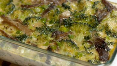 Photo of Receta de Pastel salado de brócoli con sésamo