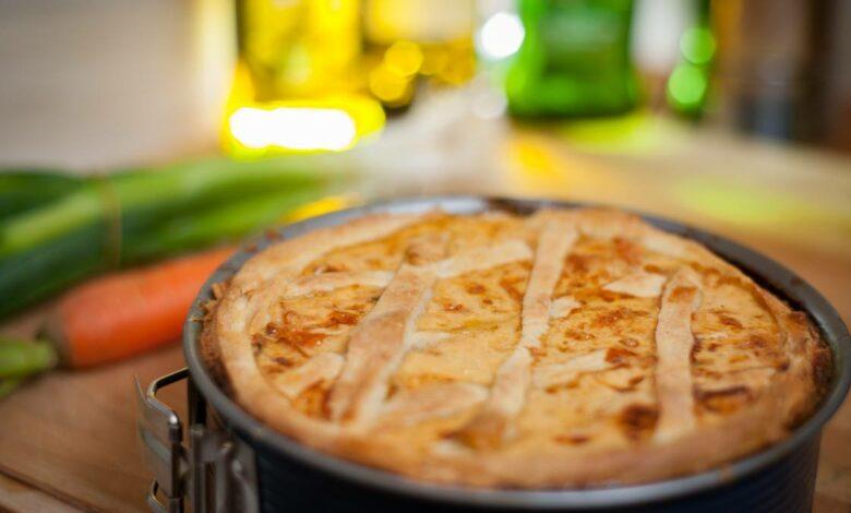 Receta de Quiche de puerros, alcachofa y jamón 1