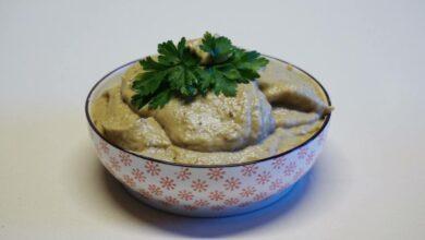 salsa de berenjena y ajos asados