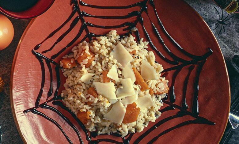 Receta de risotto de calabaza con queso suizo y vinagre balsámico 1