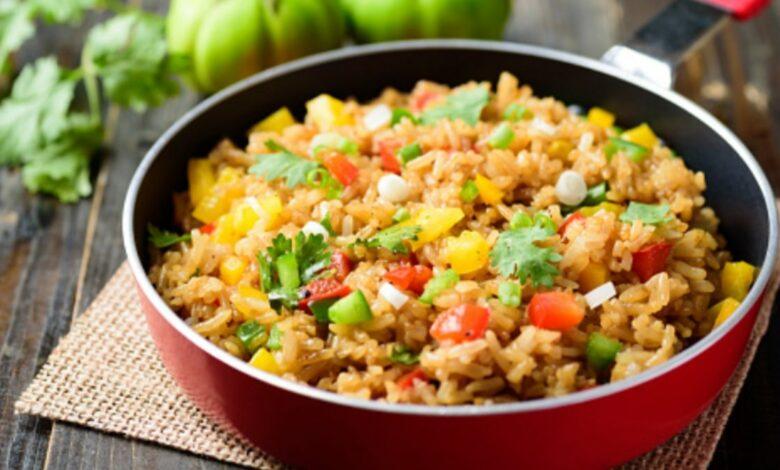 Receta de arroz con verduras y jamón al microondas 1
