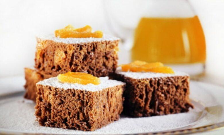 Receta de peach ricotta cake o bizcocho de ricotta y melocotón integral 1