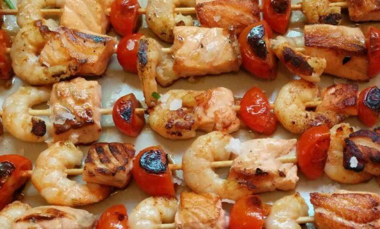 Receta de Brochetas de salmón marinado en soja 1