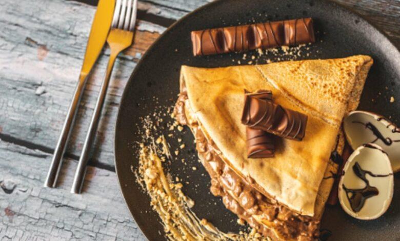 Receta de crepe de Kinder Bueno y Nutella 1