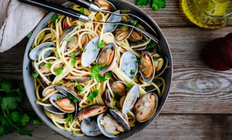 Receta de espaguetis con almejas 1