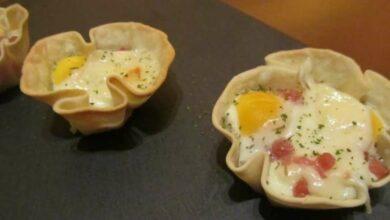 Receta de Tartaletas de jamón asado con hinojo 10