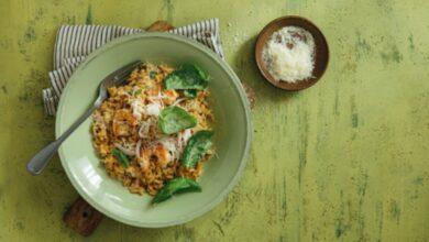 Receta de risotto de langostinos al horno 10