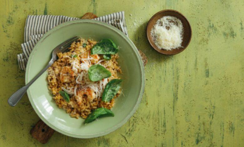 Receta de risotto de langostinos al horno 1