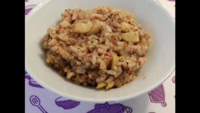 Receta de Risotto meloso de manzana, azafrán y queso de untar 7