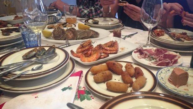 Aperitivos para la cena de Nochebuena