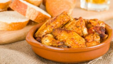 Receta de alitas de pollo al ajillo fáciles de preparar 11