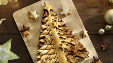 Receta de árbol de Navidad de hojaldre y chocolate 2
