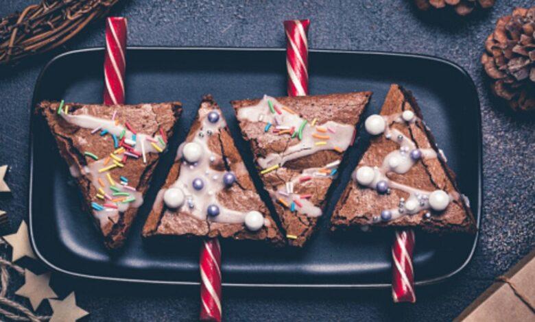Brownie árbol de Navidad sin azúcar 1