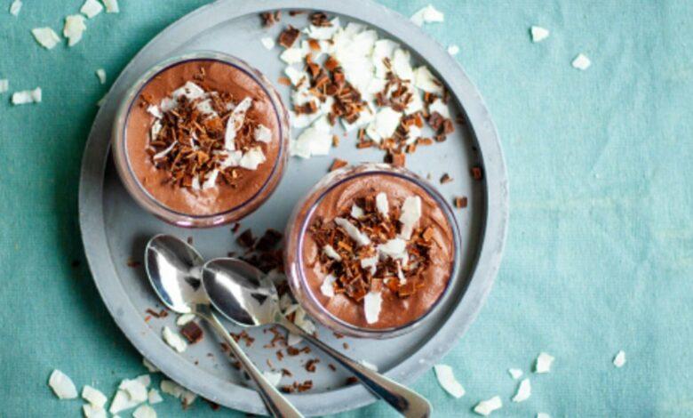 Receta de mousse de chocolate y coco sin azúcar 1