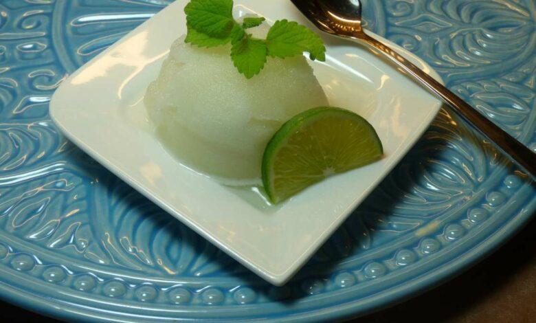 Receta de sorbete de limón al cava rápida y fácil 1