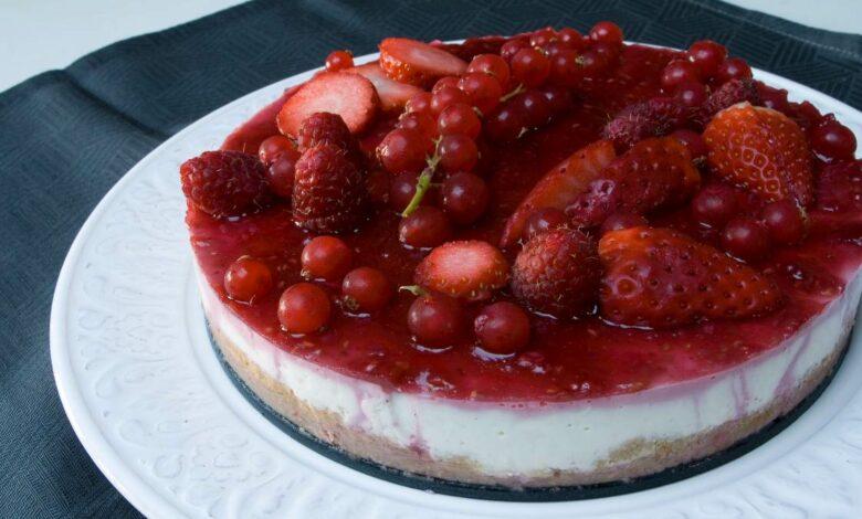 Receta de Tarta de frutos rojos sin horno 1