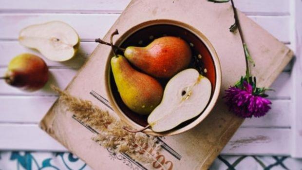 Receta cremosa de pera y avena sin azúcar