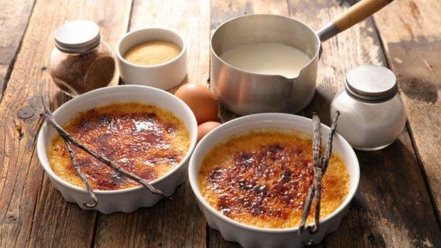 Receta de crème Brûlée de avena sin lactosa