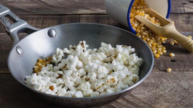 Receta de palomitas de maíz dulce sin azúcar para microondas