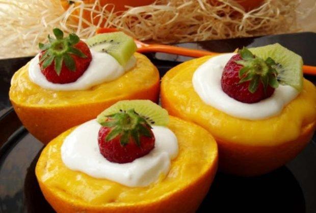 Frutas rellenas
