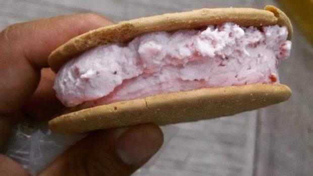 Sándwich de helado de nuez