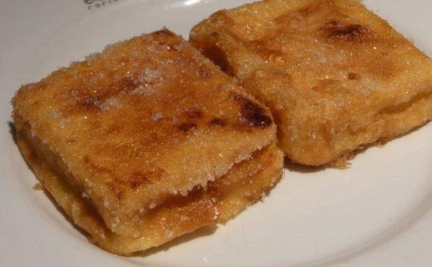 Leche frita aromatizada