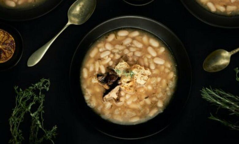 Receta de alubias con champiñones fáciles de preparar 1