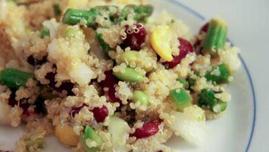 Receta de Ensalada de quinoa y hortalizas asadas 8