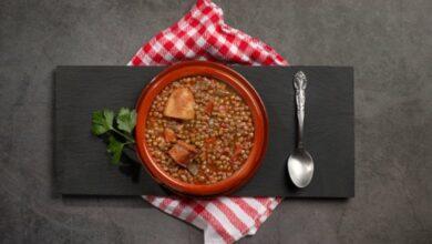 Receta de lentejas con verduras y chorizo 2