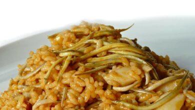 Receta de Arroz con anguriñas y habas frescas 2