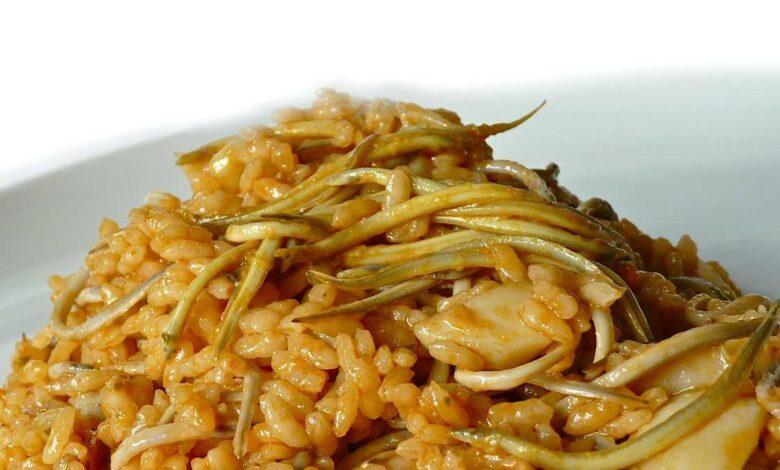 Receta de Arroz con anguriñas y habas frescas 1