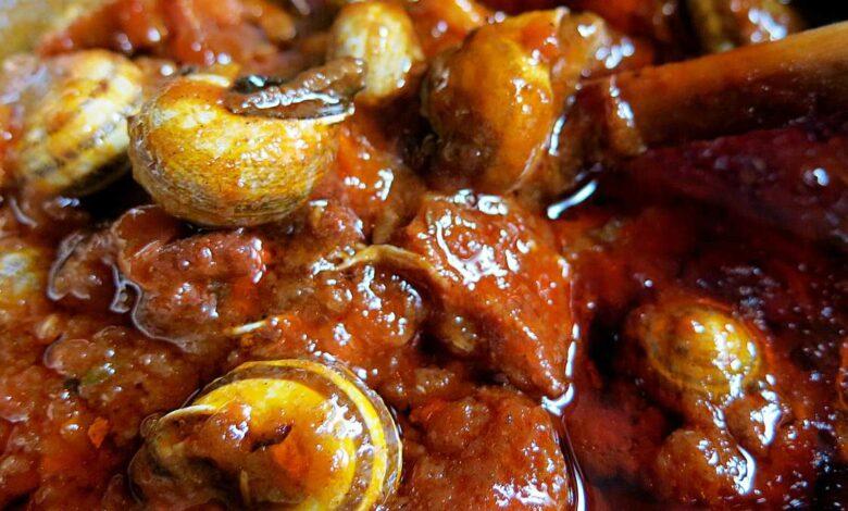 Receta de caracoles en salsa, paso a paso 1
