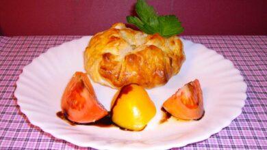Receta de hojaldre de pollo, champiñones y mermelada de cebolla en thermomix 12