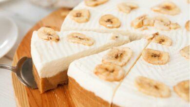 Receta de tarta de queso con plátano lista en 5 minutos 9