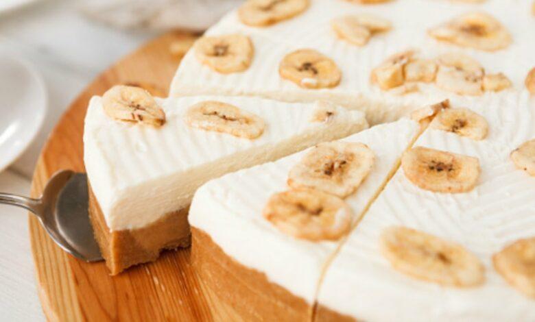 Receta de tarta de queso con plátano lista en 5 minutos 1