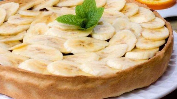 Pastel de plátano casero