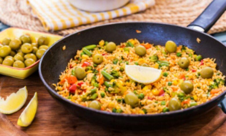 Receta de arroz con verduras y corvina 1