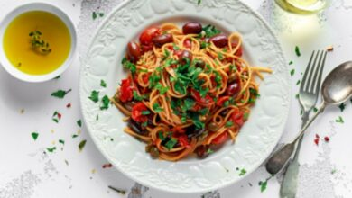 Receta de espaguetis con verduras fácil de preparar paso a paso 8