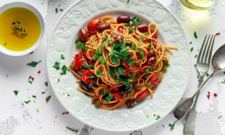 Receta de espaguetis con verduras fácil de preparar paso a paso 1